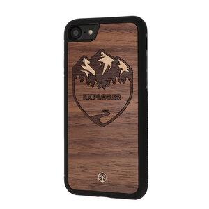 EXPLORER Holz Hülle Case für iPhone 8/7 - WOODTASTIC