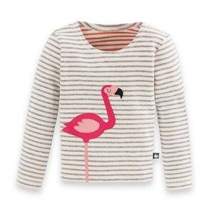 Flamingo-Shirt für Mädchen - internaht