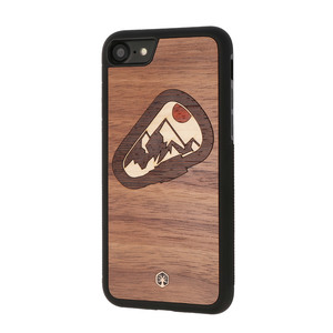CLIMBER Holz Hülle Case für iPhone 8/7, iPhone XS/X, Samsung Galaxy S9 - WOODTASTIC