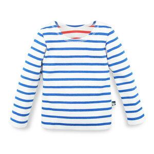 Gestreiftes Langarmshirt für Mädchen  - internaht