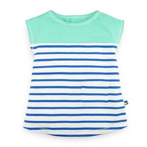 Entspanntes Jerseykleid für Mädchen  - internaht