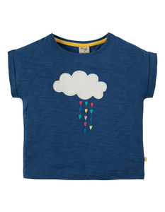 Slub T-Shirt Regenwolke blau - Frugi