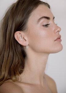 Silber Ohrringe - Textured minimal bar studs - Sterling Silver - Wild Fawn Jewellery