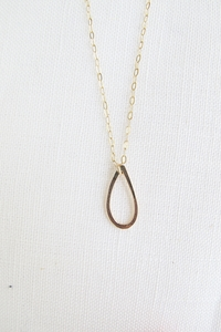 Halskette Gold - Raindrop Necklace - 9ct Yellow Gold - Wild Fawn Jewellery
