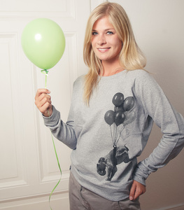 Elena Elefant - Fair Wear Frauen Sweater - Heather Grey - päfjes