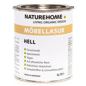 Naturehome Möbellasur vegan biologisch rein pflanzlich Holztöne - NATUREHOME
