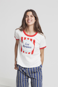 T-Shirt - LOS VERANOS RETRO - Snow White - thinking mu
