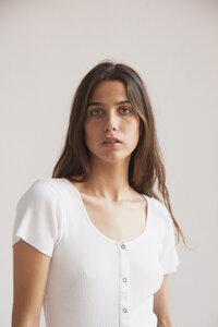 T-Shirt - WHITE RIB BOOM - Snow White - thinking mu