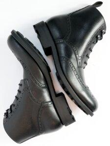 Goodyear Welt Brogue-Boots Schwarz Herren - Will's Vegan Shop