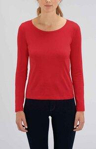 Damen Langarm T-Shirt, Longsleeve aus 100% Baumwolle (Bio) - YTWOO