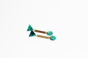 Ohrhänger GREEN - ALMA -Faire Streetwear & Schmuck-