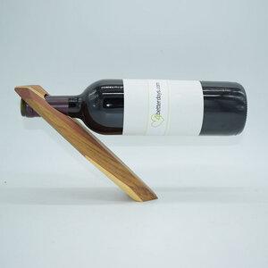 Edler Weinflaschenhalter aus heimischen Hölzern | echtes Kunsthandwerk - 4betterdays