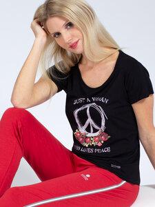 T-Shirt Peace aus weichem TENCEL®  - Magadi