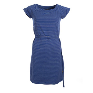 Kleid - Dress Mathilde Stripes Hip Blue Jersey Cotton - Froy & Dind