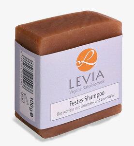 Levia Festes Shampoo Bio-Koffein mit Limetten- und Lavendelöl 100g - LEVIA Vegane Naturkosmetik
