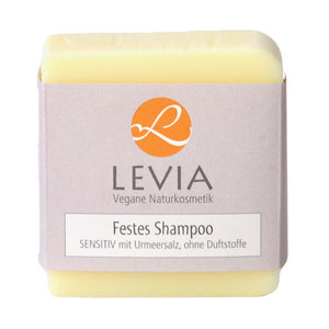 Levia Festes Shampoo SENSITIV mit Urmeersalz aus Bad Essen 100g - LEVIA Vegane Naturkosmetik