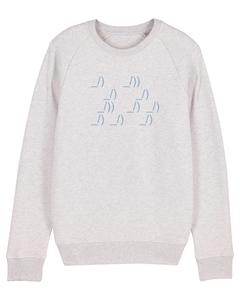 "Herren Sweatshirt aus Bio-Baumwolle ""ASCII Segler"" - University of Soul"