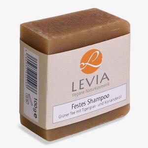 LEVIA Festes Shampoo Grüner Tee mit Tigergras und Korianderöl 100g - LEVIA Vegane Naturkosmetik