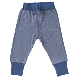 Babyhose - blau melange - People Wear Organic