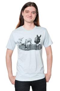 "Bio-& Fair-Trade-Männershirt ""Eselkombo"" hellgrau - Hirschkind"