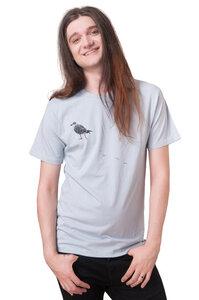 """Bio-& Fair-Trade-Männershirt """"Möwe"""" hellgrau - Hirschkind"""