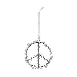 Perlen Peacezeichen weiß - Just Be