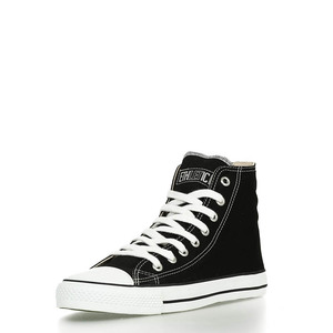 Fair Trainer Hi Cut Classic Jet Black | Just White - Ethletic