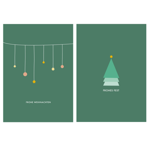 Weihnachtliches Postkarten-Set - Papier Ahoi