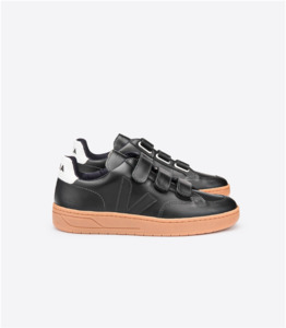Sneaker Herren - V-LOCK LEATHER - BLACK NATURAL SOLE - Veja