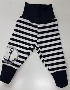 Kinder-/Baby-Mitwachshose Navy-Stripes - Omilich