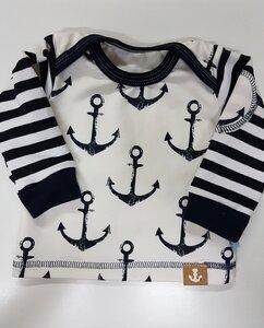 Babyshirt Navy blau-weiß - Omilich
