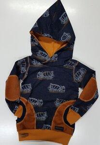 Kinder-/Baby-Kapuzenpulli Betonmischer - Omilich