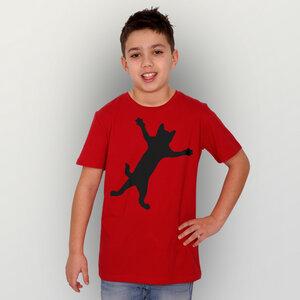 """Klammerkatze"" Unisex Kinder T-Shirt  - HANDGEDRUCKT"