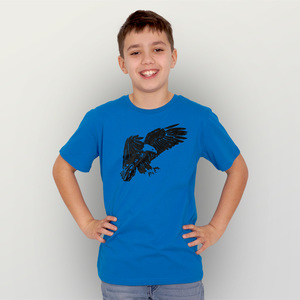 """""""Weißkopfseeadler"""" Unisex  Kinder-T-Shirt  - HANDGEDRUCKT"""