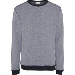 Sweat Shirt Narrow Striped Total Eclipse - KnowledgeCotton Apparel