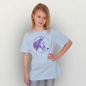 """""""Pferdeliebe"""" Unisex Kinder T-Shirt - HANDGEDRUCKT"""