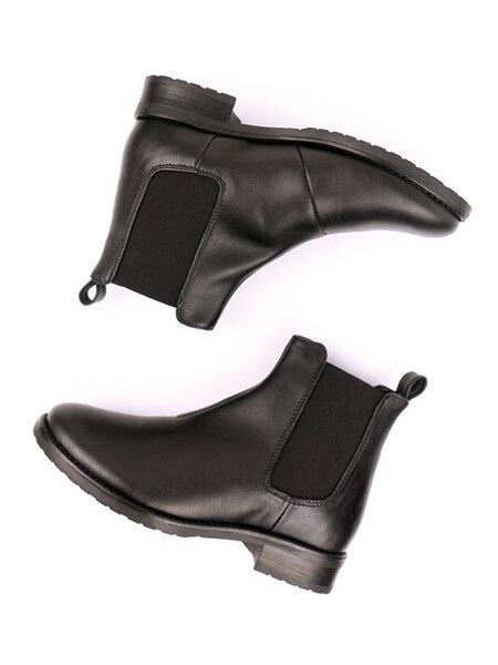 7cdd5e897a4f5e Will s Vegan Shop - Elegante Chelsea-Boots Schwarz Damen