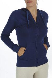 Kapuzen-Sweatshirt with zip and pockets - Biologischer Pima Baumwolle - B.e Quality