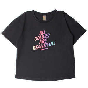 'All Colors are Beautiful' relaxed T-Shirt (Bio-Baumwolle, kbA) - Manitober