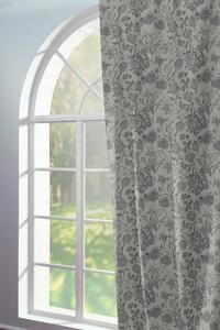 Vorhänge Fensterschal Flower Cuveé light 100 % Bio Baumwolle - Adam -Natürlich Wohnen
