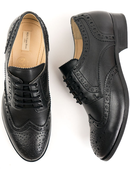 City Wingtip Brogue Oxfords Schwarz Herren