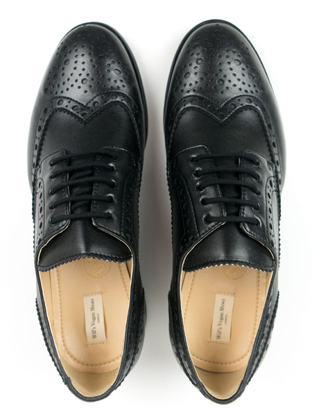 Will's Vegan Shop City Wingtip Brogue Oxfords Schwarz Herren | Avocadostore