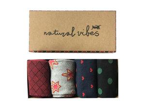 Socken geschenkboxen Bio GOTS | Bunte Socken | Herren Damen | Figures - Natural Vibes