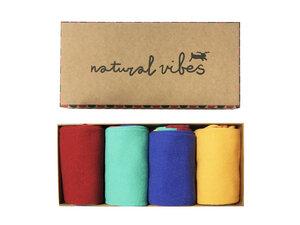 Socken geschenkboxen Bio GOTS | Bunte Socken | Herren Damen | Farben - Natural Vibes