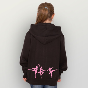 "Kinder Zip Up Hoody ""Dancing Queens"" - HANDGEDRUCKT"