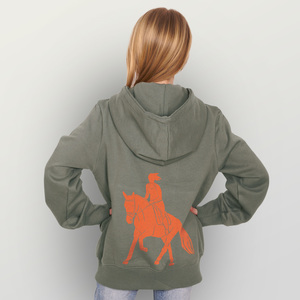 "Kinder Zip Up Hoody ""Galopp"" - HANDGEDRUCKT"