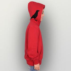 """Kinder Zip Up Hoody """"Rabenflüsterer"""" - HANDGEDRUCKT"""