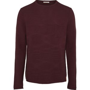 Fine Reversed Knit with Roll Edges Mauve Wine - KnowledgeCotton Apparel