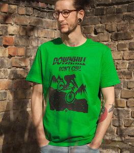 Downhill don't chill - Fair Wear Männer T-Shirt - FreshGreen - päfjes