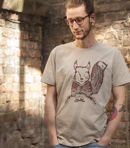 Ella Eichhorn / Squirrel - Fair Wear Männer T-Shirt - Sandbrown - päfjes